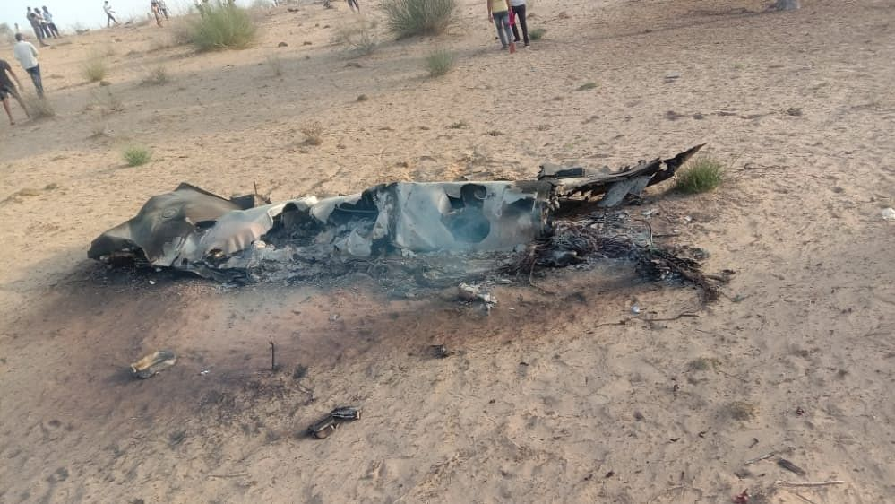IAF MiG-21 Bison aircraft crashes in Barmer, pilot ejects safely