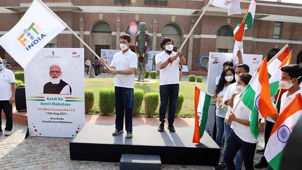 Anurag Thakur launches Fit India Freedom Run 2.0 to celebrate 75 years of Independence