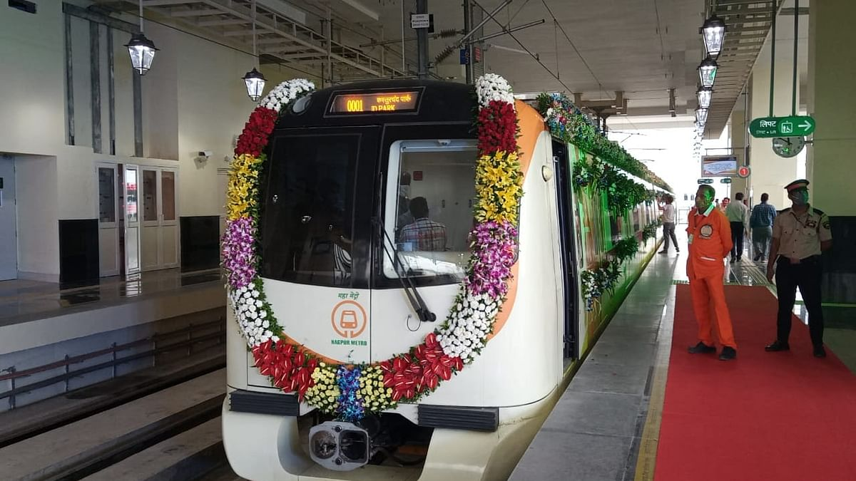 Nagpur metro, passing through a 20-storeyed building, becomes operational