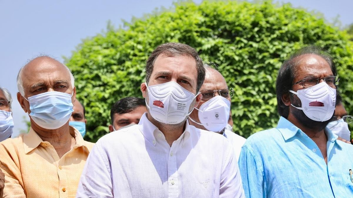 Rahul leads Opposition march against govt, says 'murder of democracy'