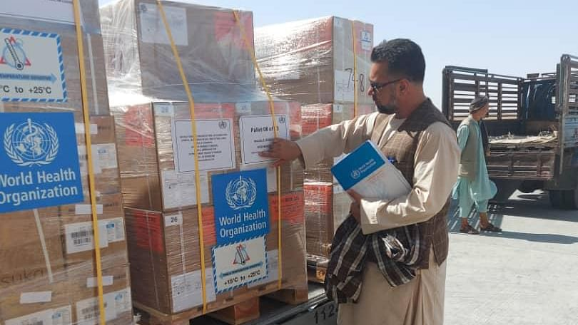 WHO health supplies land in Afghanistan
