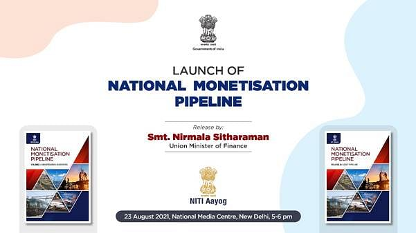 Sitharaman to launch National Monetisation Pipeline on Monday