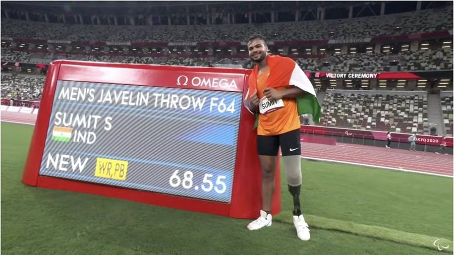 Paralympics: Sumit Antil wins gold with world record, Sandeep Choudhary ends fourth