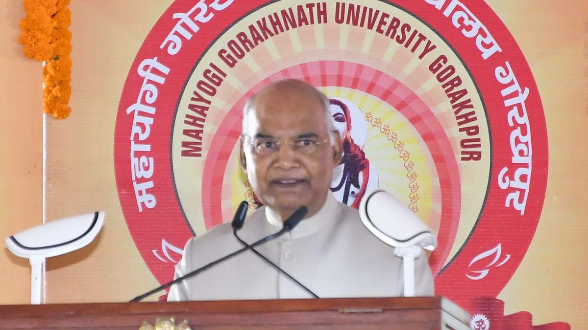 Kovind inaugurates Mahayogi Gorakhnath Vishwavidyalaya at Gorakhpur in UP