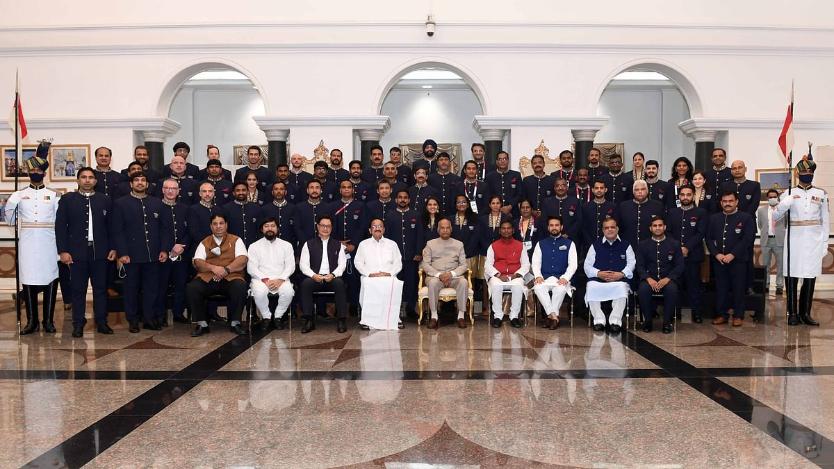 """President hosts """"high tea"""" for Indian contingent of Tokyo Olympics 2020"""