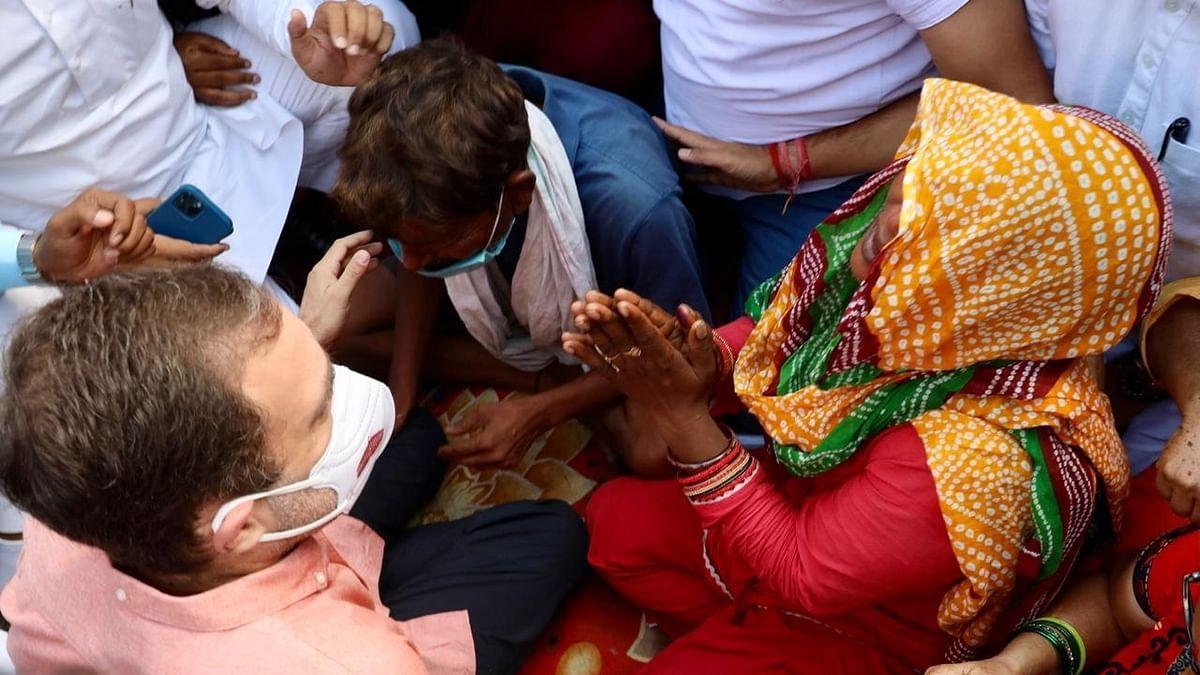 Rahul meets kin of 9-year-old rape & murder victim, demands justice