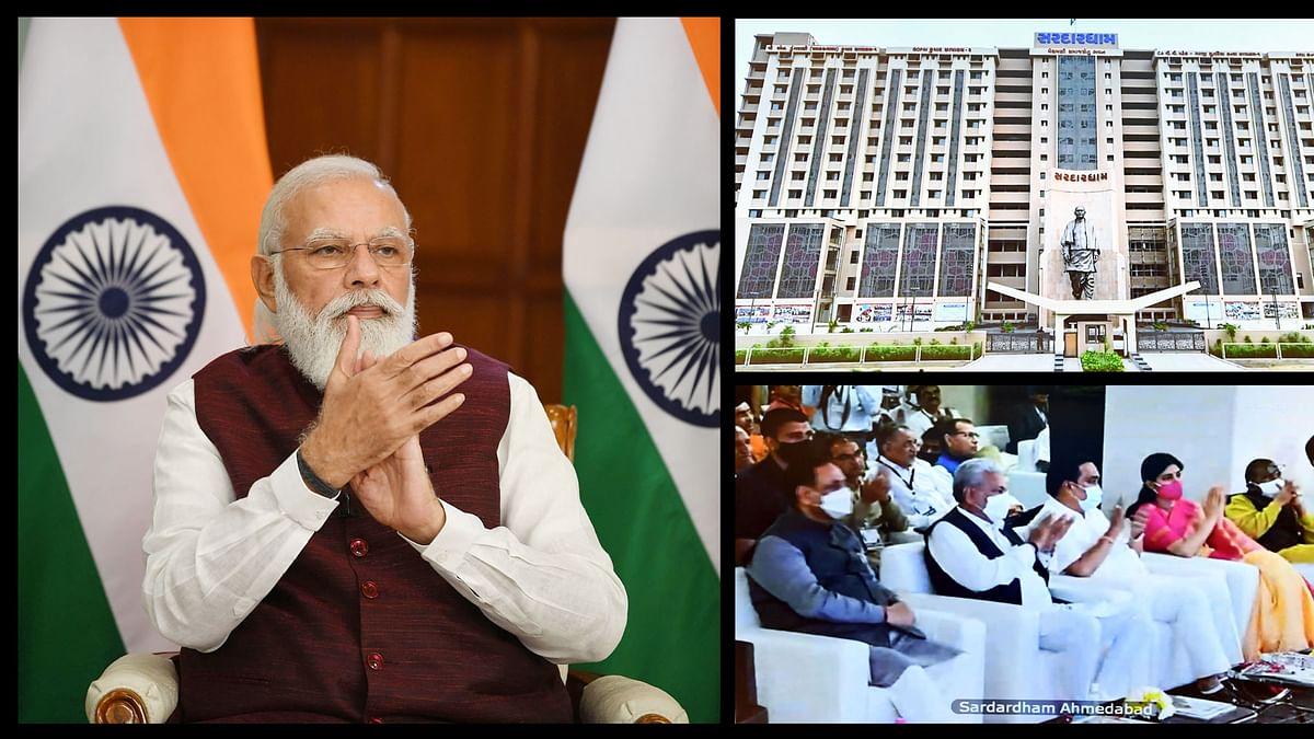 "Modi inaugurates Sardardham Bhavan and conducts 'bhoomi pujan"" of girls hostel"