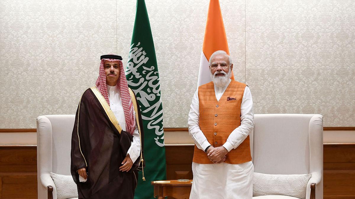 Saudi Foreign Minister Prince Faisal calls on Modi