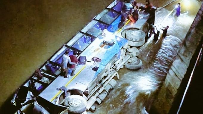 5 dead, 16 injured as Meghalaya bus plunges into swollen river