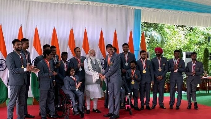 Para-athletes are ambassadors, brought laurels for the country: Modi