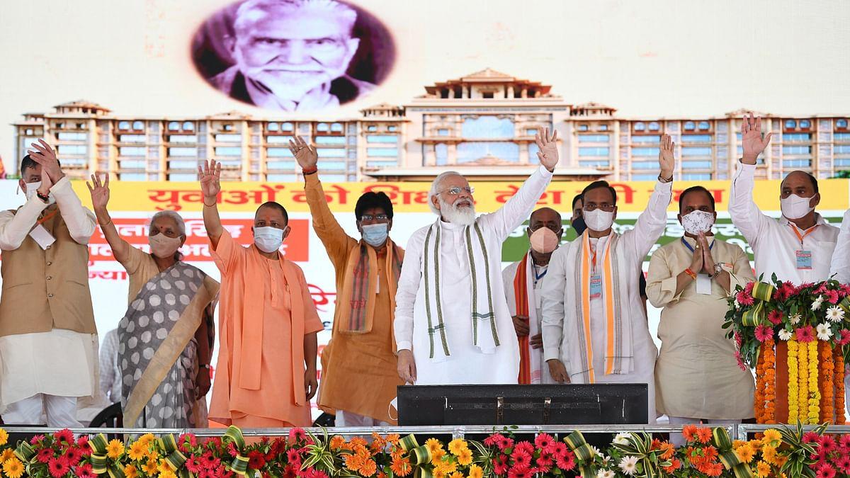 Modi lays foundation stone of Raja Mahendra Pratap Singh State University in Aligarh