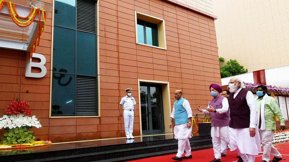 Modi inaugurates Defence Offices Complexes, says another step in developing the capital of a new India