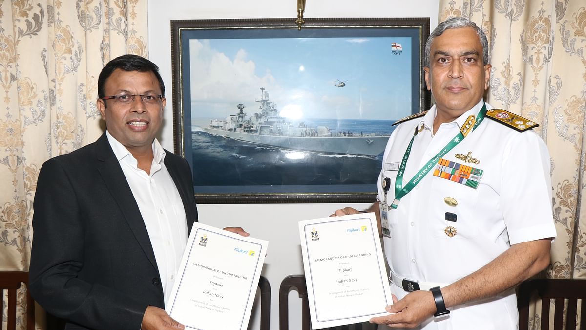 Indian Naval Placement Agency and Flipkart sign MoU for resettlement of Navy veterans