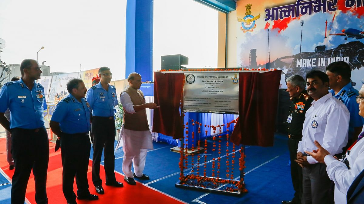 DRDO hands over air MRSAM system to Indian Air Force