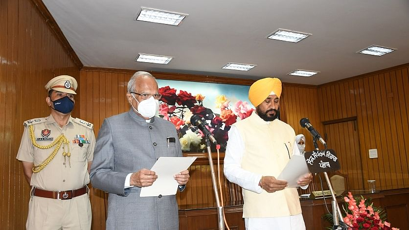 Charanjit Singh Channi sworn in as Punjab CM with two Deputy CMs
