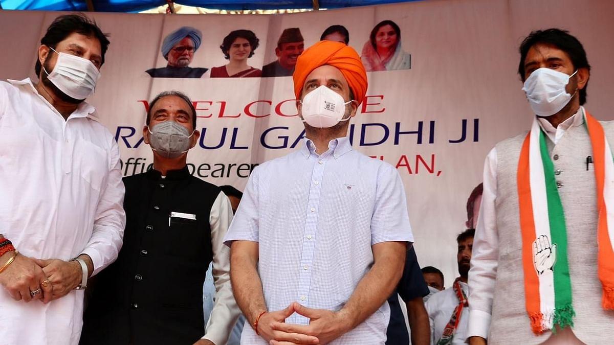 Rahul invokes Kashmiri Pandit origin during Jammu visit