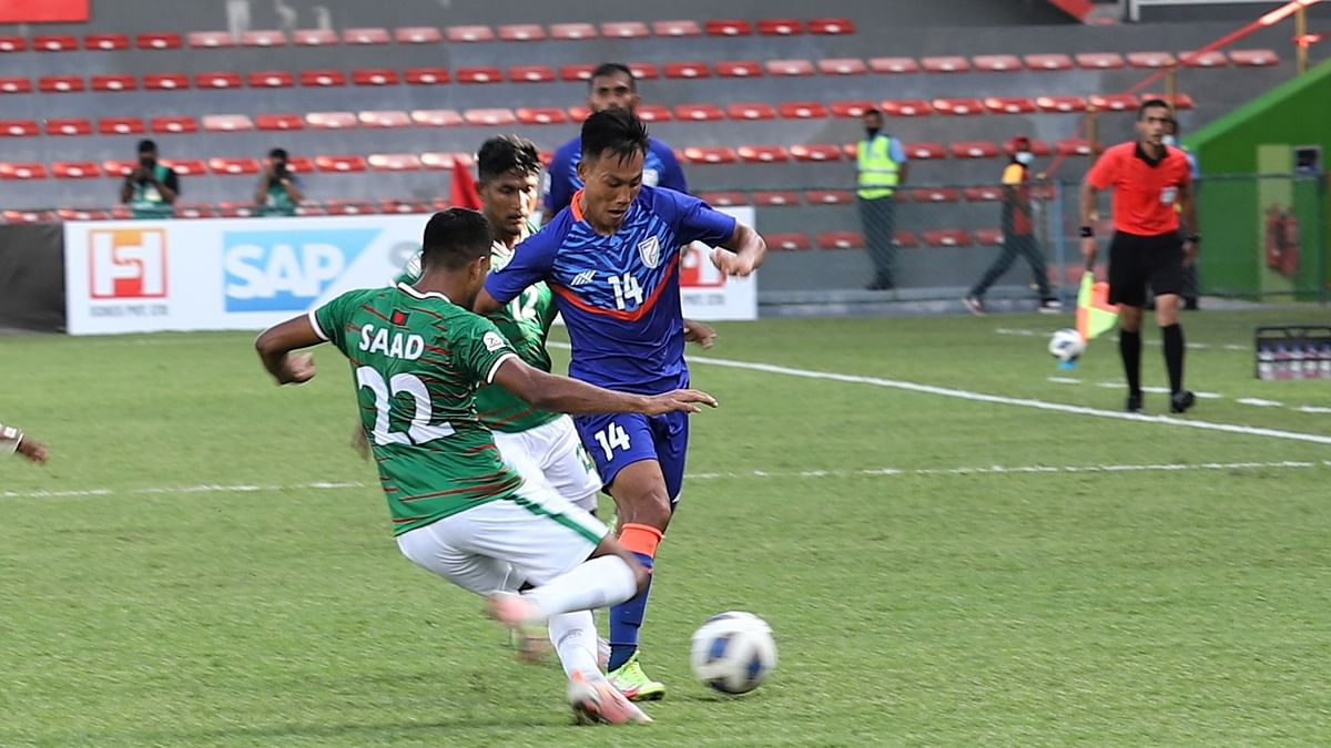 India held to a draw by Bangladesh at SAFF Championship 2021