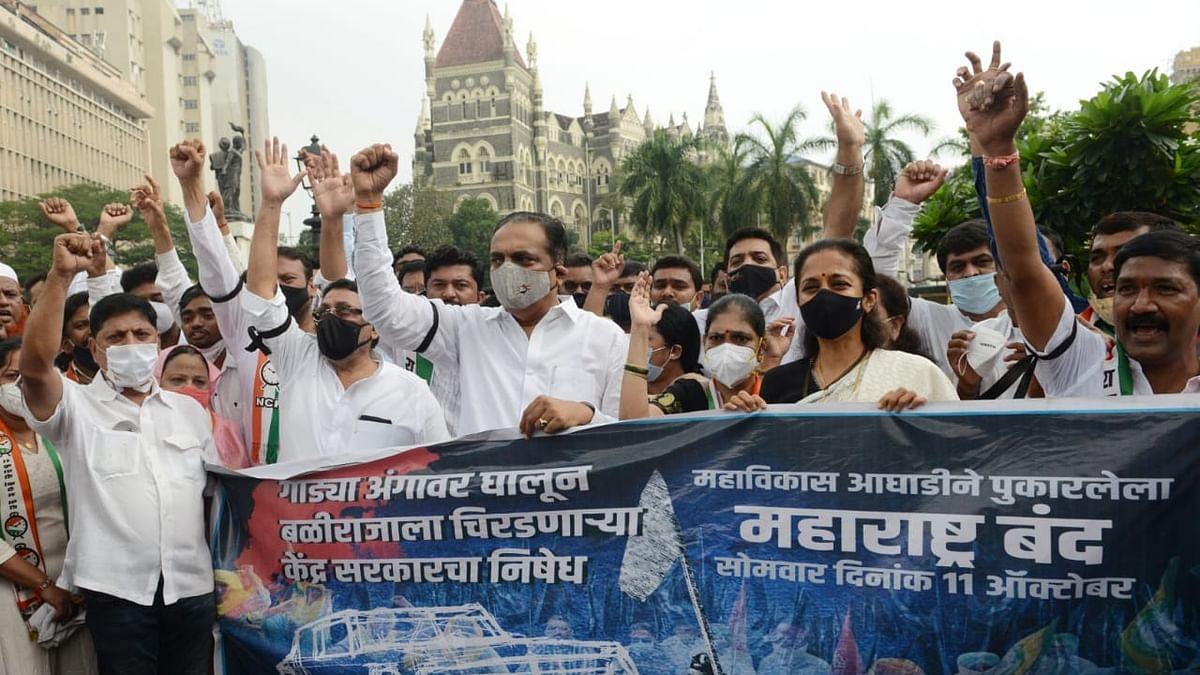 Stray violence mars near-total Maharashtra shutdown to protest Lakhimpur incident