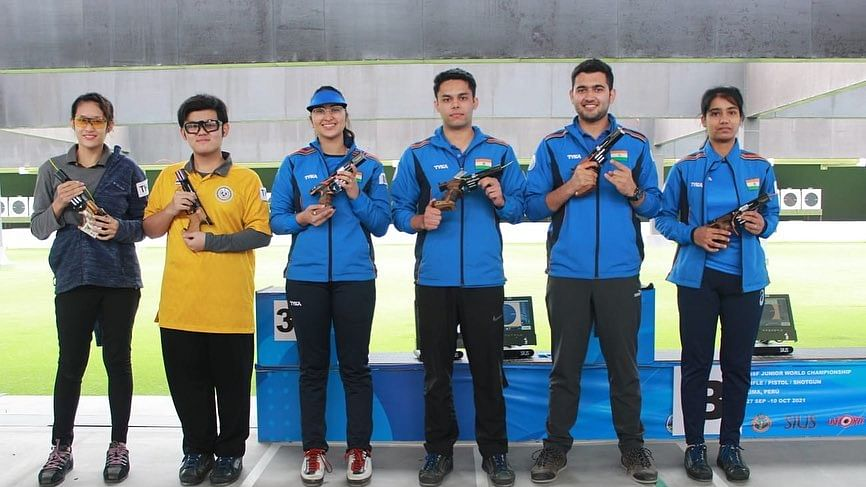 Vijayveer, Rhythm win gold In Mixed Rapid for India, women's 3P team claims silver