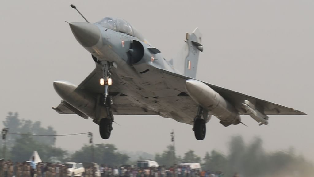 IAF Mirage 2000 aircraft crashes in Madhya Pradesh, pilot ejects safely