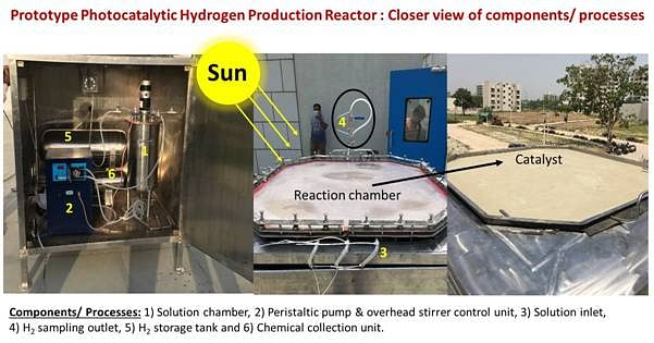 Large-scale reactor developed for cost-effective production of hydrogen using sunlight and water