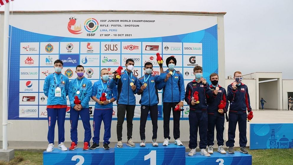 Four gold, two silvers take India to the top at Shooting Junior World Championships