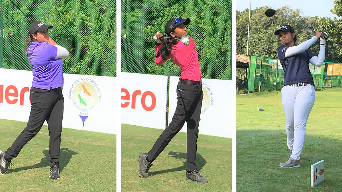 Amateur Avani  shares three-way lead  with experienced Vani and Amandeep in 10th leg of Hero WPGT