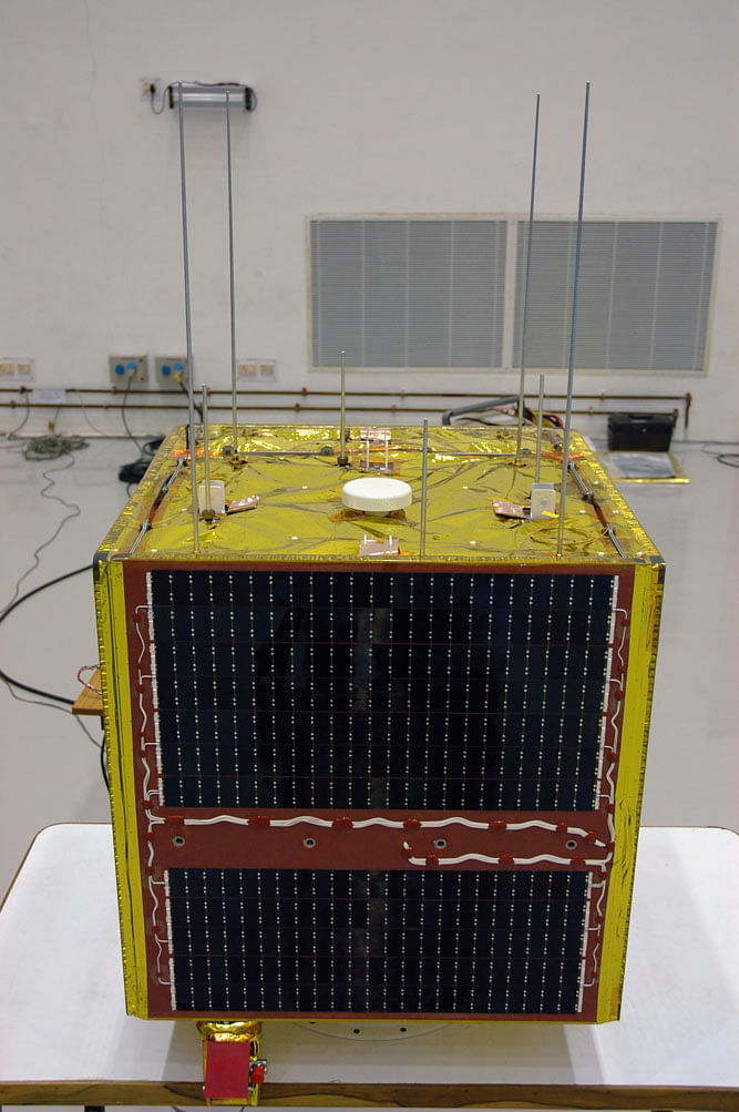 The educational micro-satellite built by Anna University, ANUSAT.