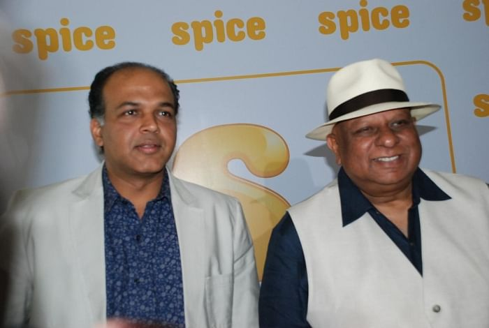 Ashutosh Gowariker and Dr. BN Modi at the press meet to announce Spice Enfotainment's new project Buddha