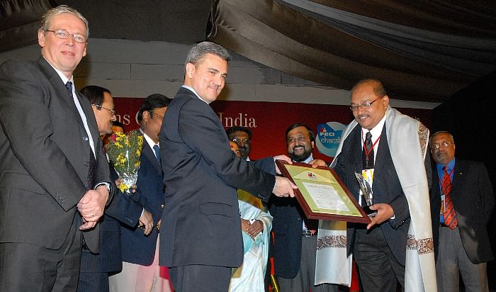 Concept PR CEO, B N Kumar, being inducted into PR Hall of fame