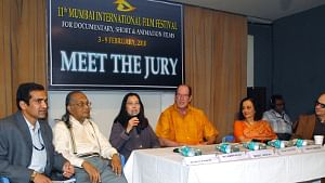 Chairperson of the Jury Committee, Trinh T. Minh-Ha addressing a Press Conference held at 11th MIFF, 2010 at NCPA on 08.02.10. Also present in the Conference were Jury Members, Asha Parekh, veteran actress from Bollywood and Dr. S. Krishnaswamy, Film Maker from India.