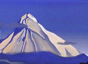 Mount Kailash, Tempera on cardboard, International Roerich Trust Naggar.