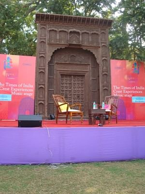 File photo of the stage on the Front Lawns at the Jaipur Literature Festival, 2010.
