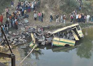 File photo of the scene of a road accident
