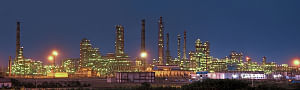 A view of the Essar refinery at Vadinar in Gujarat