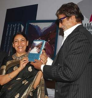 Actor Amitabh Bachchan launching actor-author Deepti Naval's book