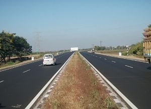A view of the Rajkot-Jamnagar-Vadinar tollway in Gujarat, which has commenced commerical operations.
