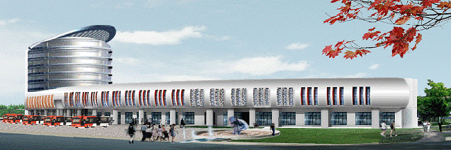 Artist's impression the ISBT Anand Vihar in Delhi after redevelopment.
