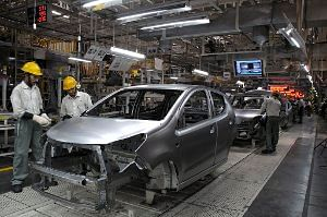 A view of a car manufacturing facility