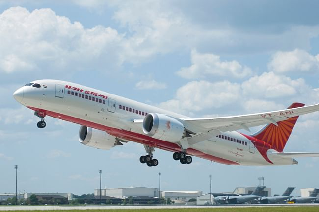 Air India's first Boeing 787 Dreamliner, delivered to it at Charleston in the United States on September 6. 2012.