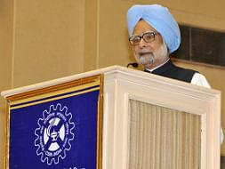 Prime Minister Manmohan Singh speaking at the 70th CSIR Foundation Day celebration, in New Delhi on September 26, 2012.
