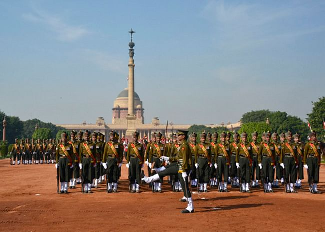 A new 'Change of Guard' ceremony was unveiled at the Rashtrapati Bhavan today to the media. This ceremony will be held every Saturday at 10 am and will be open to the public who will only have to produce a photo ID at the place of entry to Rashtrapati Bhavan from Gate No. 2 near Prime Minister's Office.