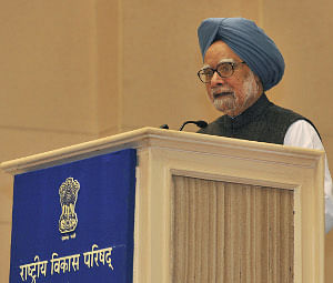 Prime Minister Manmohan Singh addressing the 57th meeting of the National Development Council, in New Delhi on December 27, 2012.