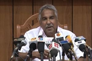 Kerala Chief Minister Oommen Chandy addressing mediapersons after a meeting of the State Cabinet in Thiruvananthapuram on January 10, 2013