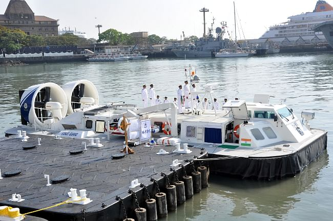The newly-commissioned Indian Coast Guard Ship H-191, in Mumbai harbour on April 9, 2013.