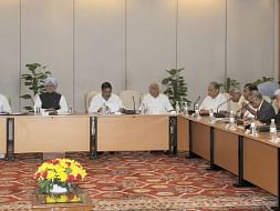 Prime Minister Manmohan Singh meeting captains of industry, in New Delhi on July 29, 2013.