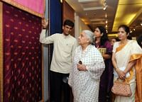 Union Minister for Culture Chandresh Kumari Katoch at Resurgence, an exhibition of Indian embroideries, organized by IGNCA, in New Delhi on September 2, 2013