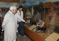 Vice President M Hamid Ansari going around the Tripura State Museum, Ujjayanta Palace in Agartala after dedicatig it to the nation on September 25, 2013.