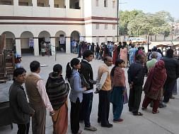 File photo of voters in a queue to cast their votes in an election in India.