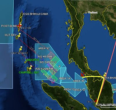 Indian ships, aircraft widen search for missing Malaysian aircraft to Bay of Bengal